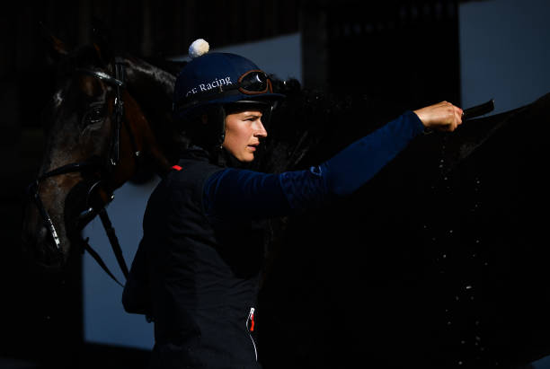 IRL: Work Rider Katie Young preparing for the return of Horse Racing