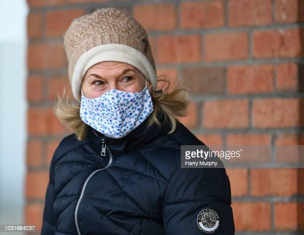 Meath , Ireland - 13 March 2021; Trainer Denise Foster prior to the Navan Members Maiden Hurdle at Navan Racecourse in Meath.