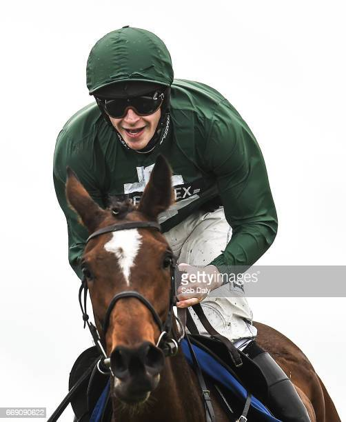 Meath Ireland 16 April 2017 Jockey David Mullins after winning the Irish Stallion Farms European Breeders Fund Mares Novice Hurdle Championship Final...