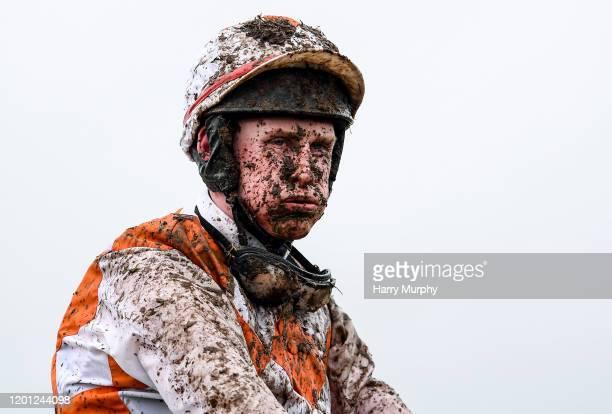 Meath , Ireland - 16 February 2020; Trevor Ryan after riding Beating The Odds in the navanadventurecentre.ie Handicap Hurdle at Navan Racecourse in...