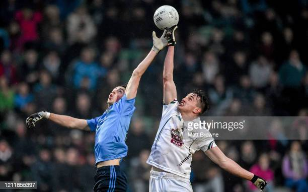 Meath Ireland 2 April 2015 Cormac Costello Dublin and Paul Mescal Kildare contest a dropping ball EirGrid Leinster U21 Football Championship Final...