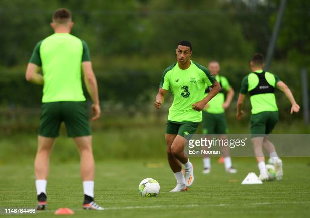 Meath Ireland 28 May 2019 Adam Idah during a Republic of Ireland U21's training session at Johnstown House Hotel in Enfield Co Meath