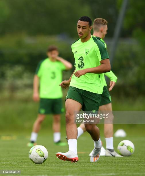 Meath Ireland 28 May 2019 Adam Idah during at Republic of Ireland U21's training session at Johnstown House Hotel in Enfield Co Meath