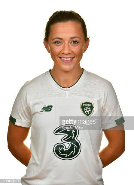 Meath Ireland 7 November 2019 Katie McCabe during a Republic of Ireland Women's Squad Portraits session at Johnstown House in Enfield Meath