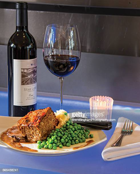 Meatloaf with Mashed Potatoes & Peas Upscale