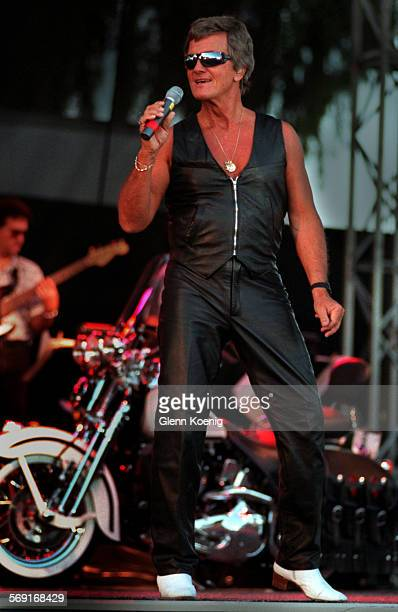 MEBooneFull body0713GKN^tThe heavy metal side of singer Pat Boone decked out in leathers as he performed his version of heavy metal at the Orange...
