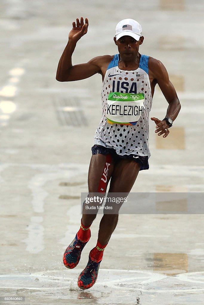 Athletics Marathon - Olympics: Day 16 : Foto jornalística