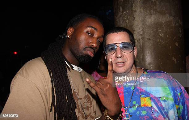 Mecca and Noah G Pop attend the Rebirth of Hip Hop Showcase at SOB's on August 4 2009 in New York City