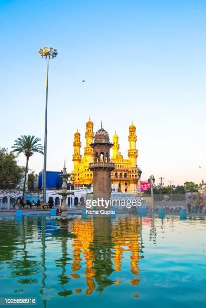 mecca masjid - hyderabad, telangana (india) - hyderabad india stock pictures, royalty-free photos & images