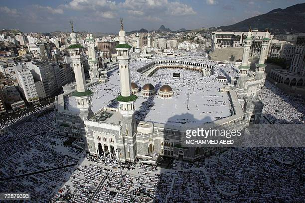 A general view shows muslim pilgrims praying at the Grand Mosque in the Saudi holy city of Mecca 27 December 2006 Around two million Muslims will...