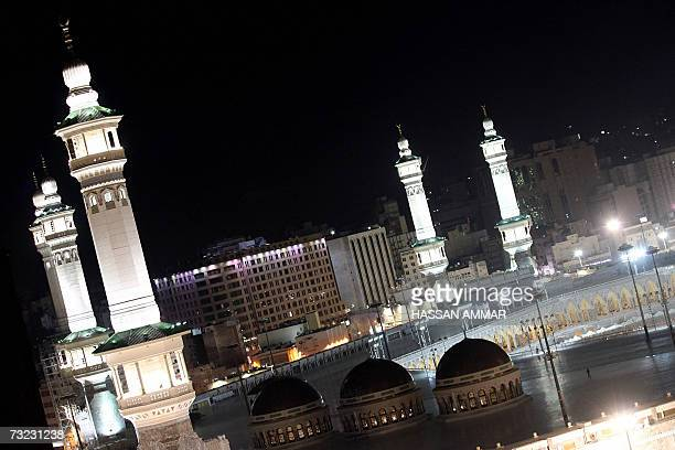 A general view shows the AlHaram Mosque in Mecca 06 February 2007 Palestinian leader Mahmud Abbas and Hamas supremo Khaled Meshaal met in Jeddah...