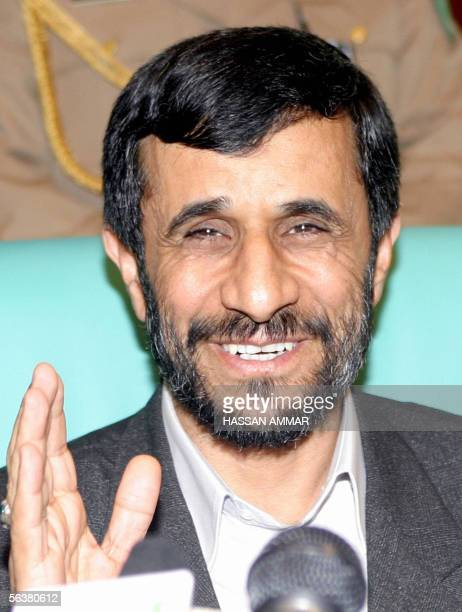 Iranian President Mahmoud Ahmadinejad speaks during the second day of the Organisation of the Islamic Conference meeting in the holy Muslim city of...
