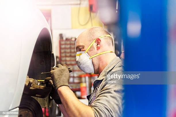 Mechaniker anpassen bremsen