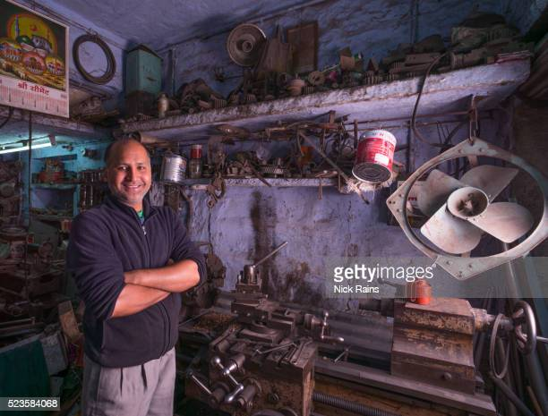 Mechanic and his workshop