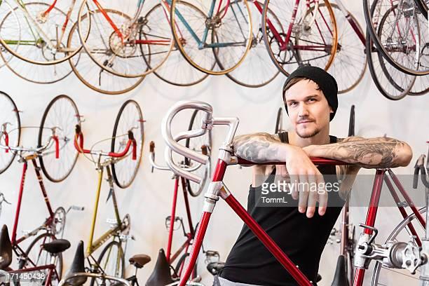 Mechanic in a Bike Store