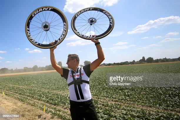 Mechanic Team Sunweb / Bourghelles À Wannehain Cobbles Sector 3 / Pave / during the 105th Tour de France 2018 Stage 9 a 1565 stage from Arras...