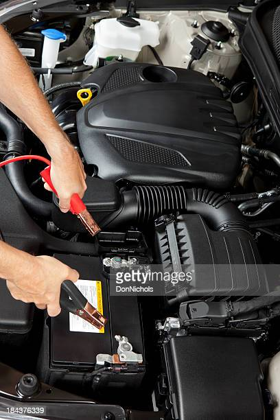 Mechanic with Jumper Cables