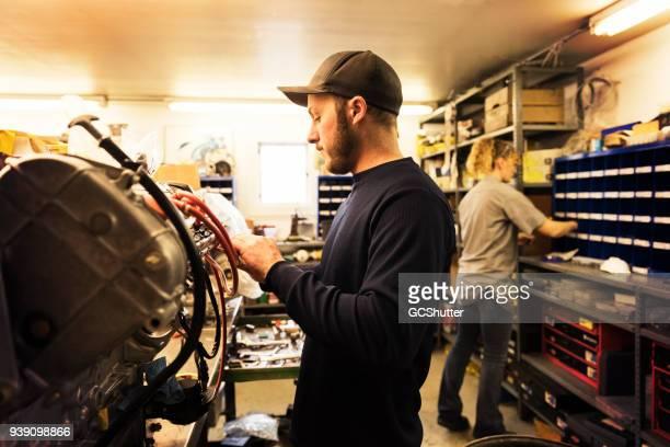 Mechanic working in a garage