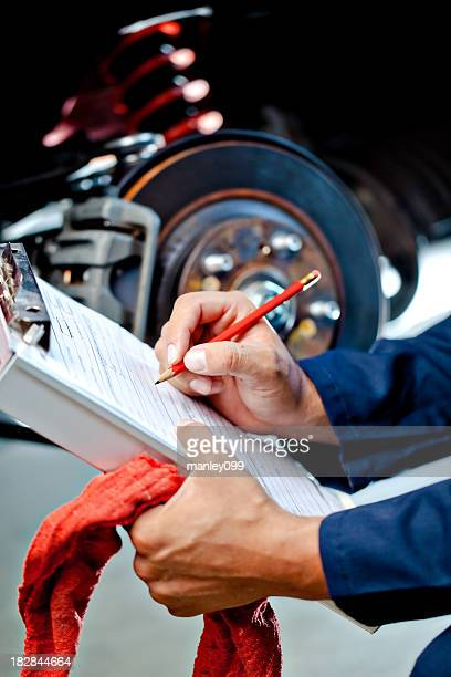 mechanic writing estimate for fix