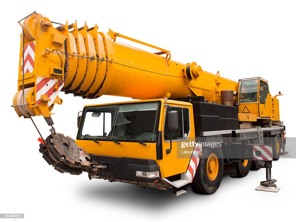 Mechanical crane Liebherr. : Stock Photo