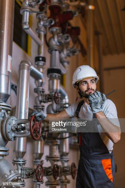 mechanical engineer inspector inspection crude oil pump - oil industry stock pictures, royalty-free photos & images