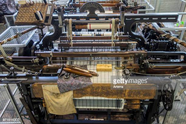 Mechanical flying shuttle loom / Tattersall Holdsworth shuttle weaving machine in cotton mill / spinningmill