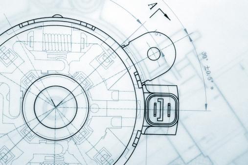 Mechanical Industry Blueprint 155013511