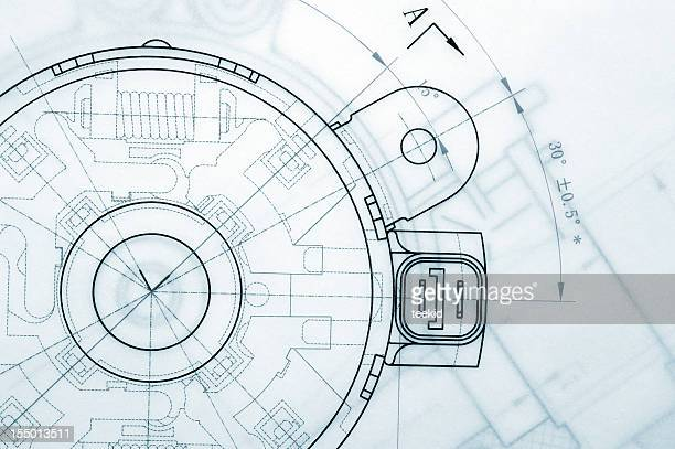 mechanical industry blueprint - engineering stock pictures, royalty-free photos & images