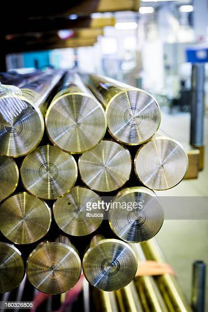 Mechanical industry brass bars background