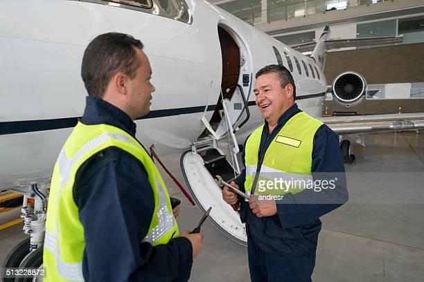 Mechanics fixing a plane