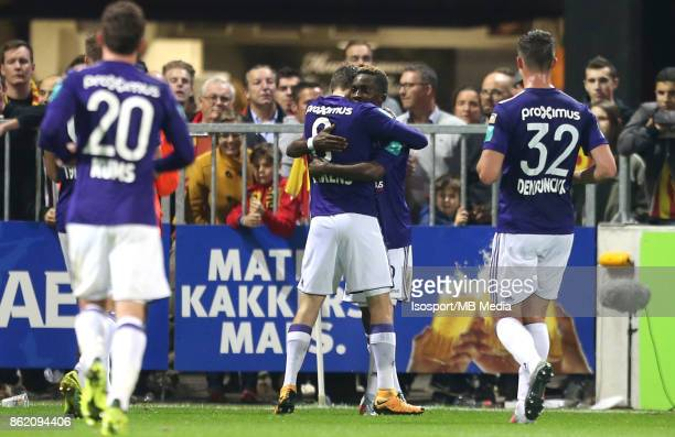 20171013 Mechelen Belgium / Kv Mechelen v Rsc Anderlecht / 'nHenry ONYEKURU Celebration'nFootball Jupiler Pro League 2017 2018 Matchday 10 /...