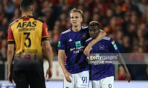 20171013 Mechelen Belgium / Kv Mechelen v Rsc Anderlecht / 'nLukasz TEODORCZYK Henry ONYEKURU'nFootball Jupiler Pro League 2017 2018 Matchday 10 /...