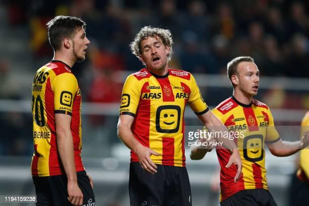 Mechelen's Arjan Swinkels reacts during a soccer match between KV Mechelen and Standard de Liege, Friday 17 January 2020 in Mechelen, on day 22 of...