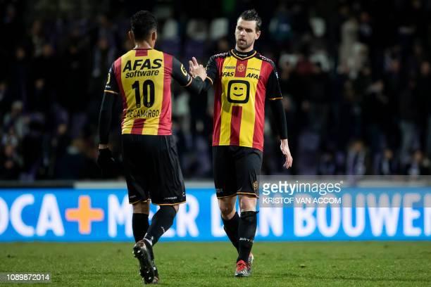 Mechelen's Igor de Camargo and Mechelen's Joachim Van Damme pictured after a soccer game between Beerschot Wilrijk and KV Mechelen Saturday 26...