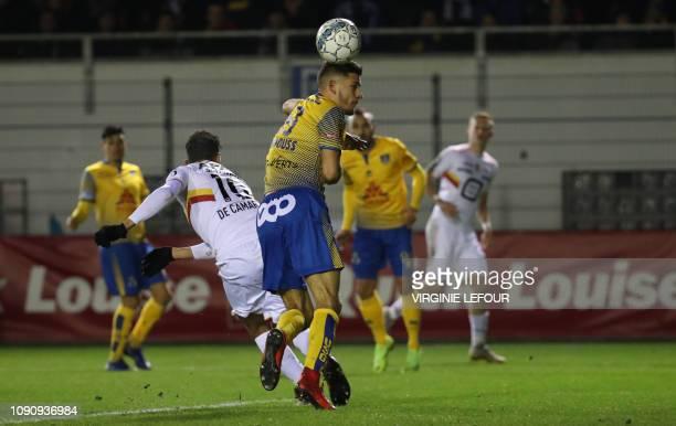 Mechelen's Igor de Camargo scoring the 01 goal and during a soccer game between Royale Union Saint Gilloise and KV Mechelen Tuesday 29 January 2019...