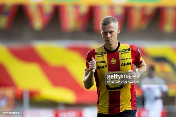 Mechelen's Nikola Storm pictured during a soccer match between KV Mechelen and Cercle Brugge KSV, Saturday 22 August 2020 in Mechelen, on day 3 of...