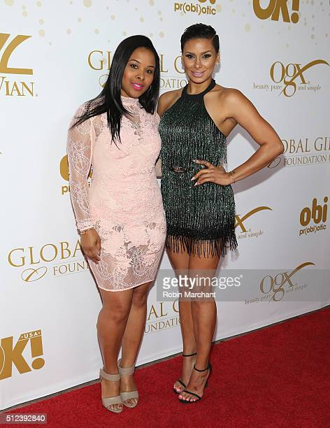 Mechelle Epps and Laura Govan attend OK Magazine's PreOscar Party In Support Of Global Gift Foundation at Beso on February 25 2016 in Hollywood...