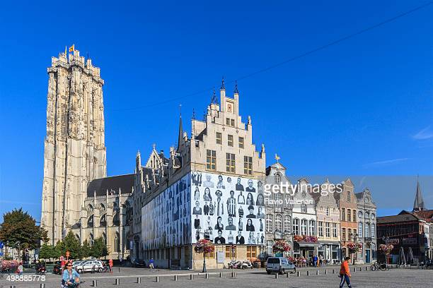 mechlin - grote markt, belgium - mechelen stock pictures, royalty-free photos & images