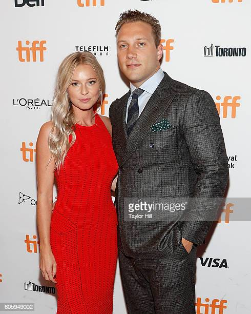 """Mecki Dent and Jai Courtney attend the premiere of """"The Exception"""" during the 2016 Toronto International Film Festival at Winter Garden Theatre on..."""