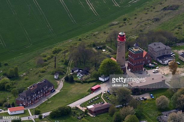 Mecklenburg-Vorpommern : Insel Ruegen, Leuchtturm am Kap ArkonaLuftaufnahme