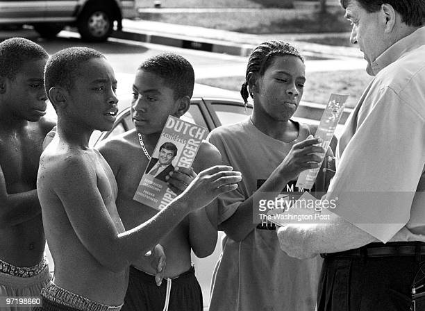 me/cong Jahi Chikwendiu/TWP From left Darius Brodie Aaron Brodie Julian Hester and Kennard Stinnette are asked by Baltimore County executive Dutch...