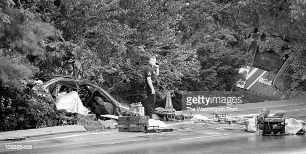 8/10/98 PHOTOGRAPHER James M ThresherTWP Piney Branch Rd Silver Spring BRIEF DESCRIPTION Rush hour fatality A rush hour accident involving a RideOn...