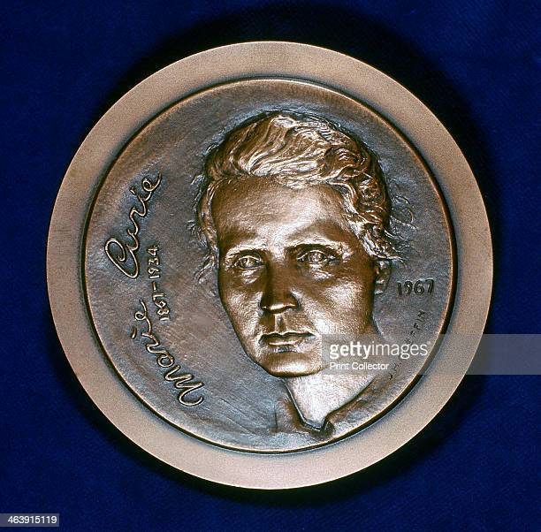 Medal commemorating Marie Sklodowska Curie Polishborn French physicist 1967 Obverse of a medal issued in 1967 to commemorate the centenary of her...