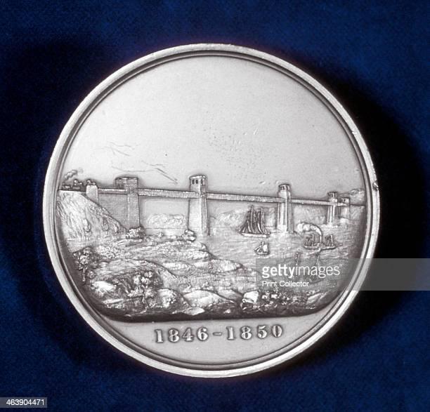 Medal commemorating the building of the Britannia Tubular Bridge North Wales c1850 The Britannia Tubular Bridge was designed by Robert Stephenson...