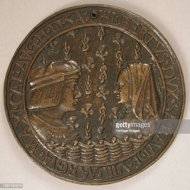 Medal of Duke Philibert II of Savoy and Margaret of Austria , French, early 16th century. Artist Unknown.