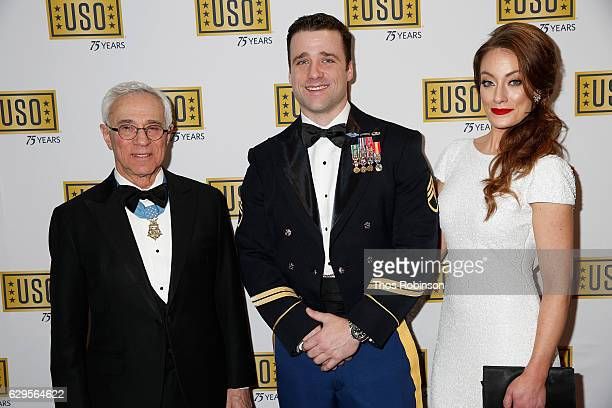 Medal of Honor recipient Col Jack Jacobs and USO George Van Cleave Military Leadership Award recipient US Army Green Beret Staff Sgt Michael Sargent...