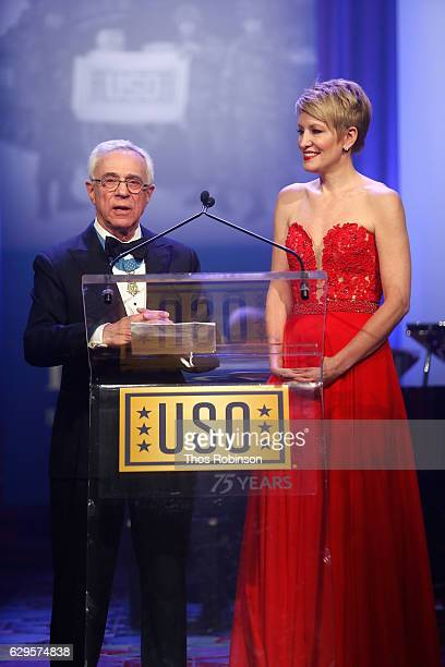 Medal of Honor recipient Col Jack Jacobs speaks onstage during the USO 75th Anniversary Armed Forces Gala Gold Medal Dinner at Marriott Marquis Times...