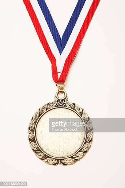 medal - blue ribbon stock photos and pictures