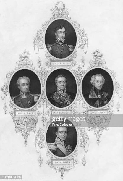 Medallion portraits of British military figures Portraits of commanders who furthered the imperialist cause in India and other colonial possessions...