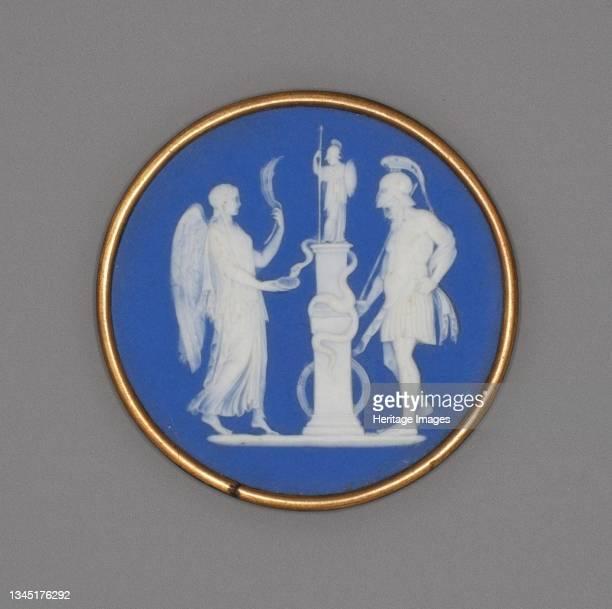 Medallion with Warrior and Priestess, Burslem, Late 18th century. Artist Wedgwood.
